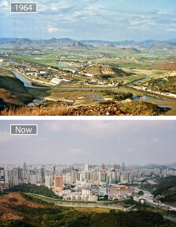 Shenzhen before and after 1964.jpg